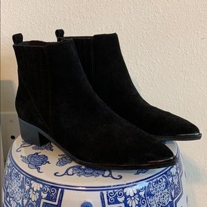 Leather Suede Booties